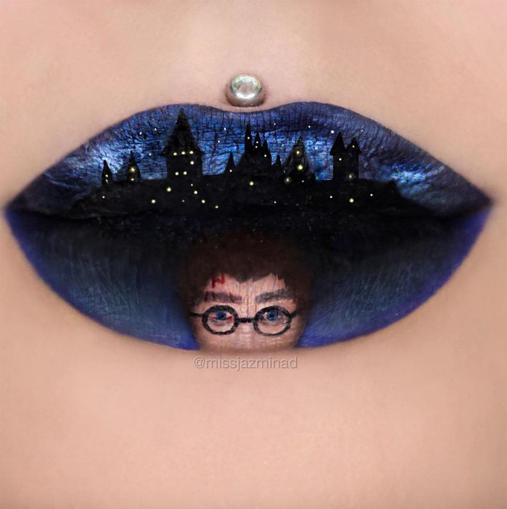ФОТО: Эта художница-визажист рисует чудесные картины прямо на губах