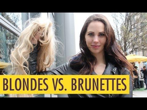 Blondīnes vai brunetes?