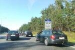 ФОТО: При въезде в Юрмалу образовалась большая пробка