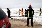 VUGD no Engures ezera ledus noceļ savainotu cilvēku