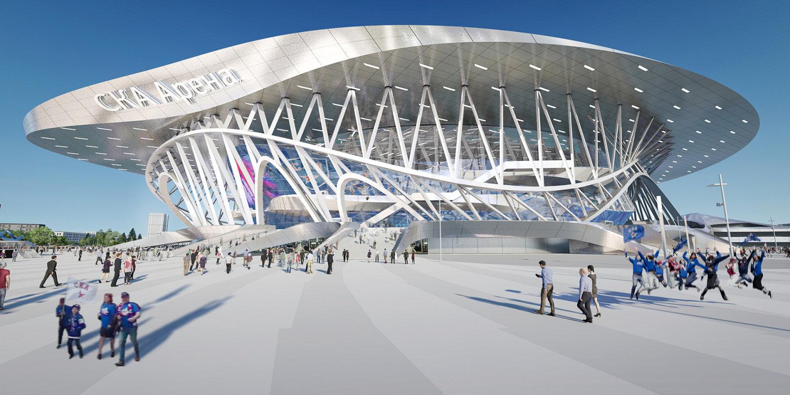 Kosmoss vai kārtējā lielīšanās? Sanktpēterburgā top pasaulē lielākā hokeja superarēna