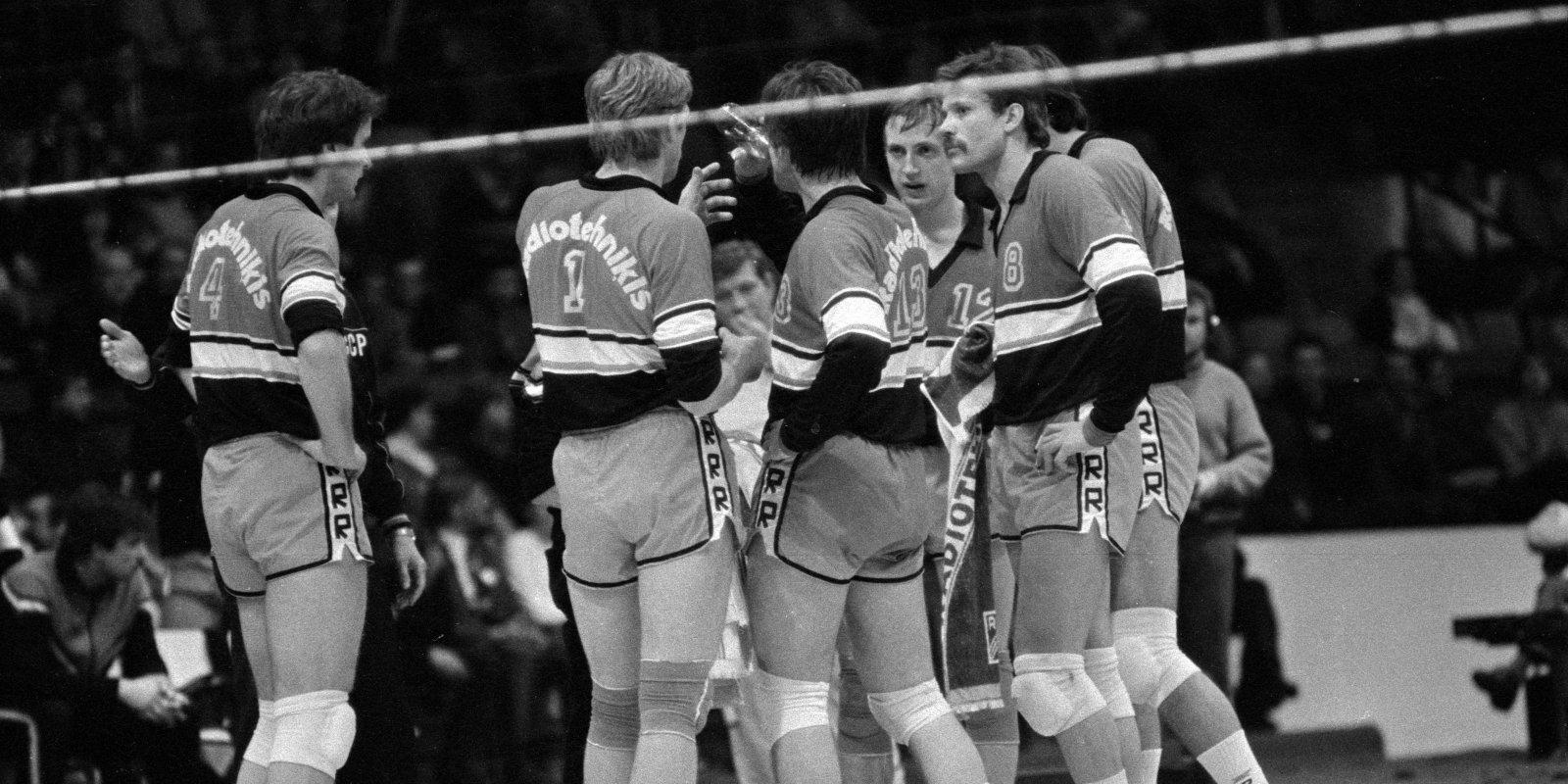 Izcilās komandas: 'Radiotehniķis' pārtrauc ACSK dominanci padomju volejbolā