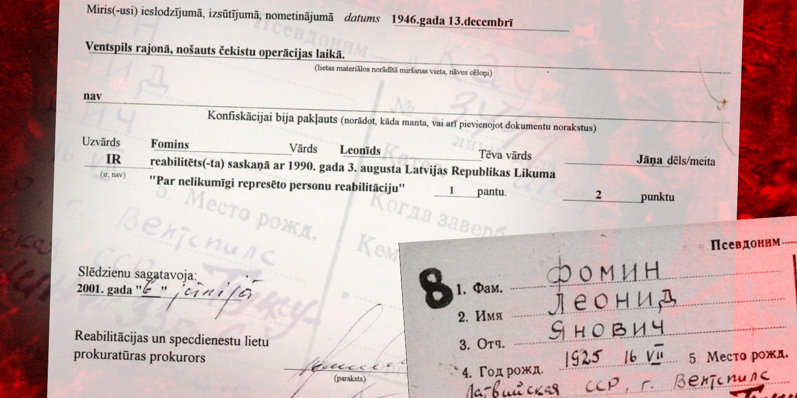 Prokuratūras kļūdas dēļ reabilitē genocīdā pret tautu vainotu čekas kaujinieku