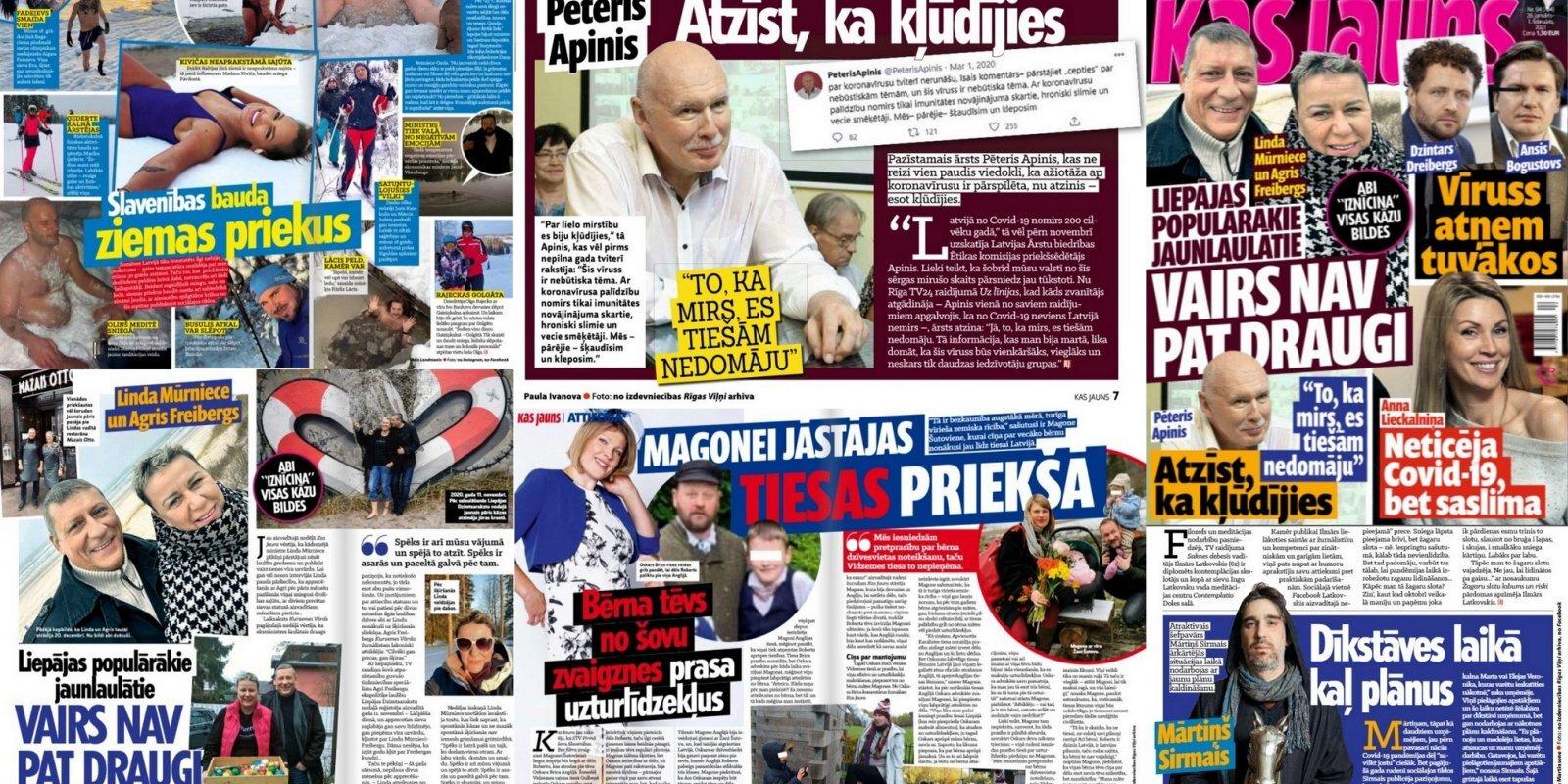 Политики в проруби и новая драма звезды с хутора: о чем пишут латышские таблоиды