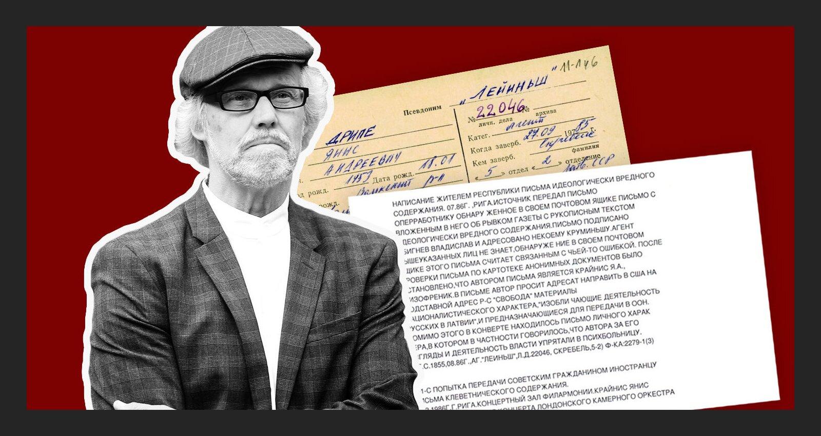 'Maisi vaļā': Aģents 'Lejiņš' nodod čekai 'šizofrēniķa' vēstuli; arhitekts Dripe to sauc par 'tehnisku kļūmi'