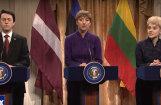 Video: Amerikāņu šovā iesmej par Trampa tikšanos ar Baltijas līderiem