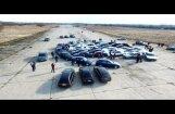 ФОТО, ВИДЕО: Битва фанатов на Румбуле - BMW против Audi и Mercedes