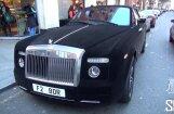 Video: Ar samtu pārvilkts 'Rolls-Royce' Londonā