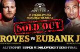 Septiņu minūšu laikā izpārdod Pasaules boksa supersērijas pusfināla maču Mančestrā