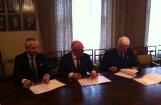 Paraksta trīspusējo līgumu par Latvijas trešās Olimpiādes organizēšanu Liepājā