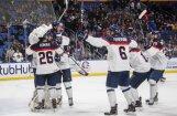 Slovākijas U-20 hokeja izlase sensacionāli uzvar pasaules čempioni ASV