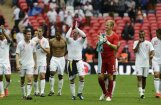 Anglijas futbola izlase pēdējā pārbaudes spēlē pirms EČ uzvar Beļģiju