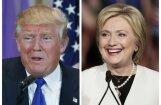 Klintones pārsvars pār Trampu sarūk, liecina aptauja