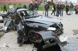 После аварии Alfa  Romeo  развалился на части