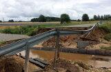 На восстановление размытых дождями дорог потребуется около миллиона евро
