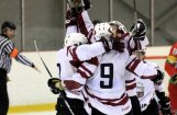 Latvijas U-20 hokeja izlase uzvar Dāniju