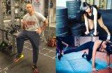 Foto: Populārie latvieši sporto un svīst treniņos