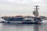 ASV Jūras spēki saņem pirmo nākamās paaudzes aviācijas bāzeskuģi 'USS Gerald R. Ford'