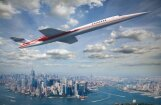 Foto: Jaunā virsskaņas lidmašīna, ar ko no Londonas Ņujorkā varēs nokļūt 4,5 stundās
