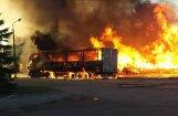 Пожар на ул. Лубанас в Риге ликвидирован: взорвались баллоны с газом