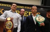 Бриедис и Усик прибыли в Ригу на полуфинальный бой WBSS