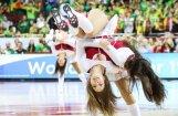 Lunkanās daiļaviņas, kas Rīgā priecēja basketbola fanus