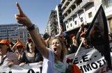 Grieķijā ielās vērojams rekordliels demonstrantu skaits