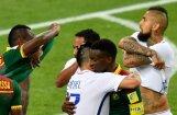 Čīle pēdējās minūtēs izrauj uzvaru Konfederāciju kausa spēlē pret Kamerūnu