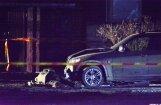 ФОТО, ВИДЕО. В Резекне пытались взорвать BMW X5: полиция использовала робота-сапера
