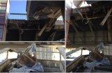 Foto: Vanšu tiltam nobrukušas kāpņu margas