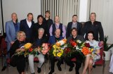 Foto: 'Zodiaks', 'Sīpoli' un 'Turaidas roze' satiekas Aivara Gudrā jubilejas koncertā