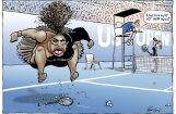 Serēnas Viljamsas skandāls: austrālietis publicē karikatūru un spiests pazust no sociālajiem tīkliem
