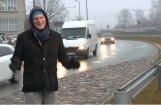 'Zebra': Kāpēc veidojas sastrēgums Dienvidu tilta nobrauktuvē Pārdaugavas pusē