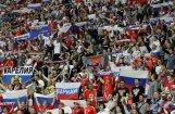 Krievu futbola fani piekauj stadiona darbiniekus