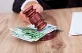 Naida kurināšanā vainotajam – daži tūkstoši, 'Winergy' lietā – miljons eiro. Pēdējā gadā noteiktās drošības naudas