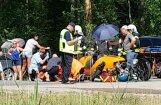 Video: 'Audi' un sporta mašīnas 'Morgan' avārijā Babītē divi cietušie