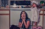 Foto: Kādu haosu un izmisumu mājās rada bērns