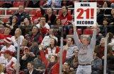 'Red Wings' sasniedz jaunu NHL  rekordu, uzvarot jau 21.mājas spēlē pēc kārtas
