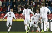 Latvijas futbola izlase sagādā pārsteigumu Prāgā