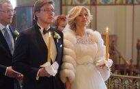 Foto: Kā precējās Nils Ušakovs un Iveta Strautiņa