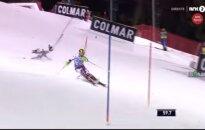 Video: Olimpiskais vicečempions kalnu slēpošanā par mata tiesu izvairās no traģēdijas