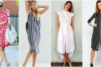 Простая элегантность: лучшие летние образы с платьем рубашкой
