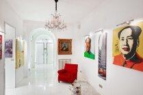 Buržuāziskais kičs 222 kvadrātmetrus plašā dzīvoklī Kannās