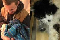 Mājas meklē kaķenīte, kuru garāmgājējs izglābis no kanāla Rīgā