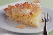 Ābolu un mango tarte filo mīklā