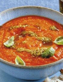 Konservētu tomātu krēmzupa