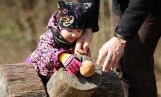 Foto: Ļaužu pūļi Lieldienas svin Latvijas Etnogrāfiskajā brīvdabas muzejā