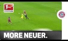 Video: 'Bayern' vārtsargs Noiers riskanti izskrien 40 metrus no vārtiem