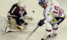 Latvijas hokeja izlase zaudē Slovākijas komandai