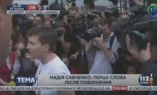 Savčenko atgriezusies Ukrainā